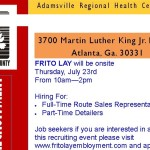 Frito Lay Job Fair